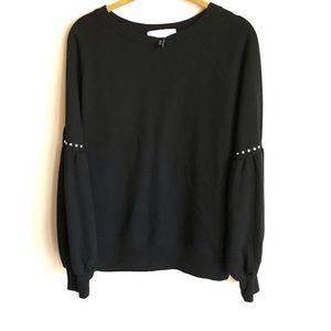Planet Gold Black Sweatshirt Raglan Sleeves